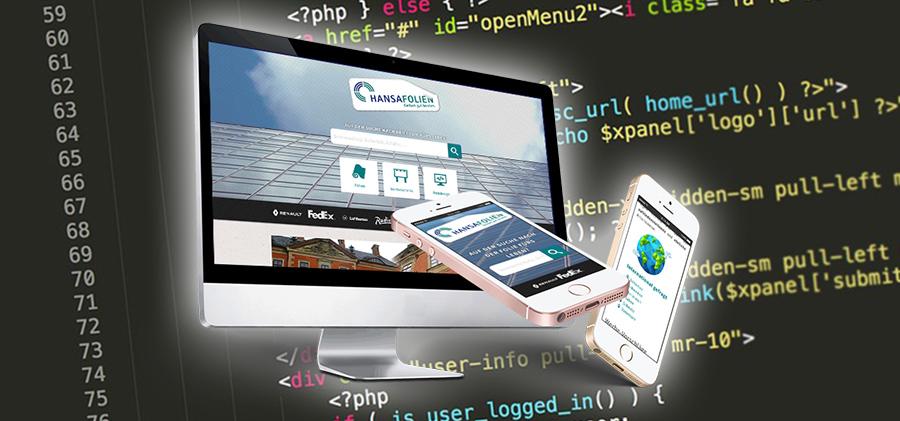 Neu: Webdesign von Hansafolien